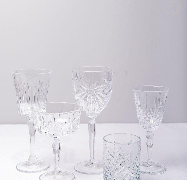 Vackra kristallglas hos Petras porslin till din vackra dukning
